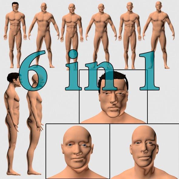 Set of Men 6 in 1 - 3DOcean Item for Sale
