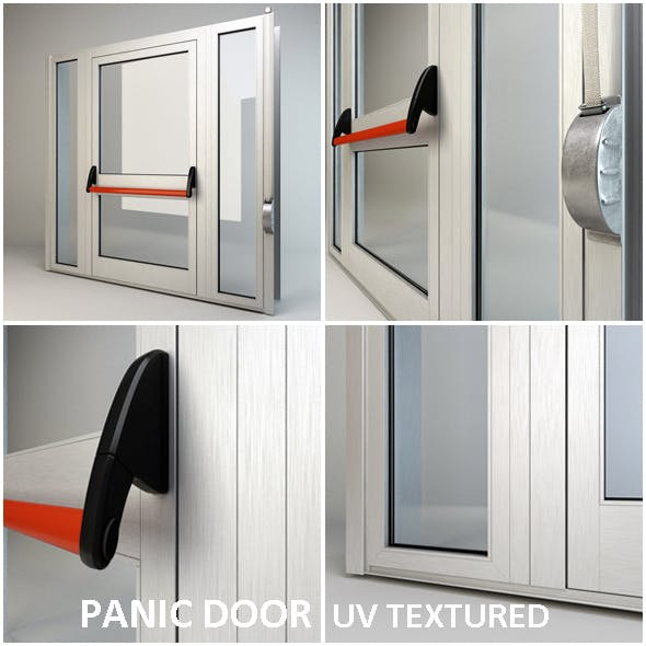 Panic door - 3DOcean Item for Sale