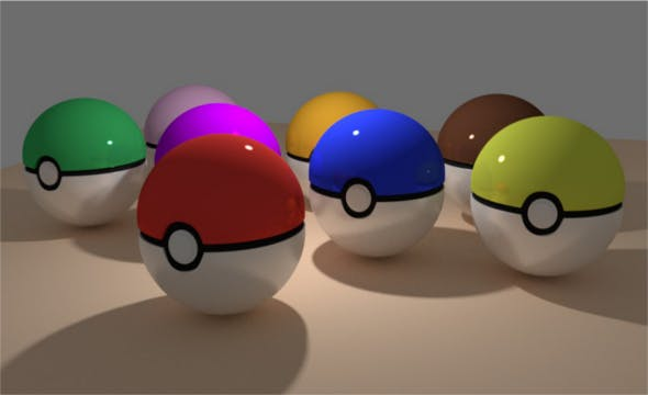 Pokeball + More Colors - 3DOcean Item for Sale