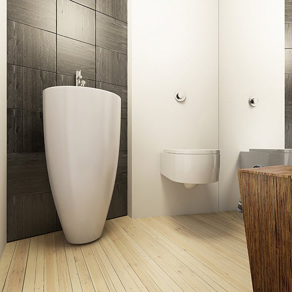 Bathroom Interior Render Setups Scene