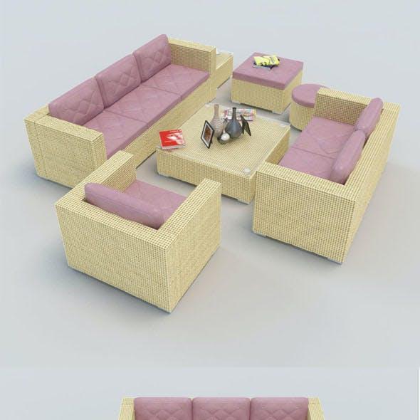 Rattan Sofa set_1