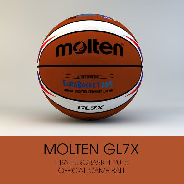 Molten GL7X Official Eurobasket 2015 game ball - 3DOcean Item for Sale