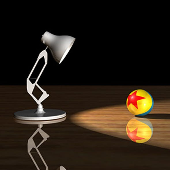 Pixar Luxo Jr - 3D Lamp Model