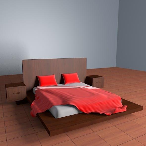 Wooden Bed - 3DOcean Item for Sale