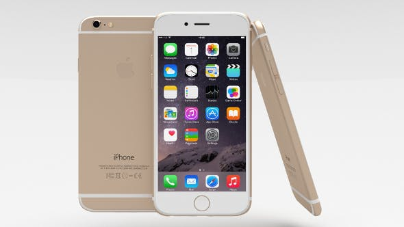 Iphone 6 Gold - 3DOcean Item for Sale