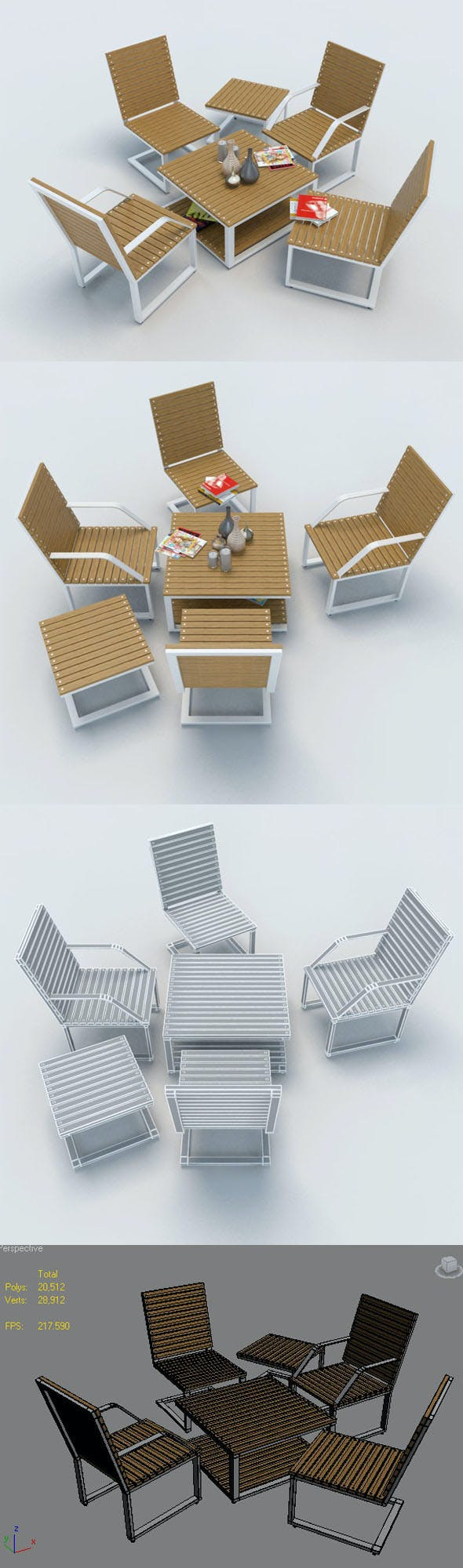 OUTDOOR FURNITURE-1 - 3DOcean Item for Sale