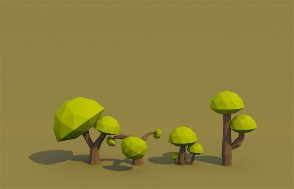 Mushroom Tree - 3DOcean Item for Sale