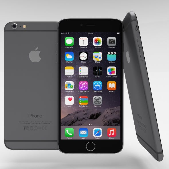 iPhone 6 Plus Space Grey - 3DOcean Item for Sale