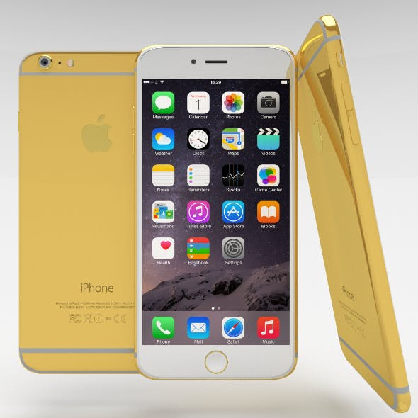 iPhone 6 Plus Gold Plated - 3DOcean Item for Sale