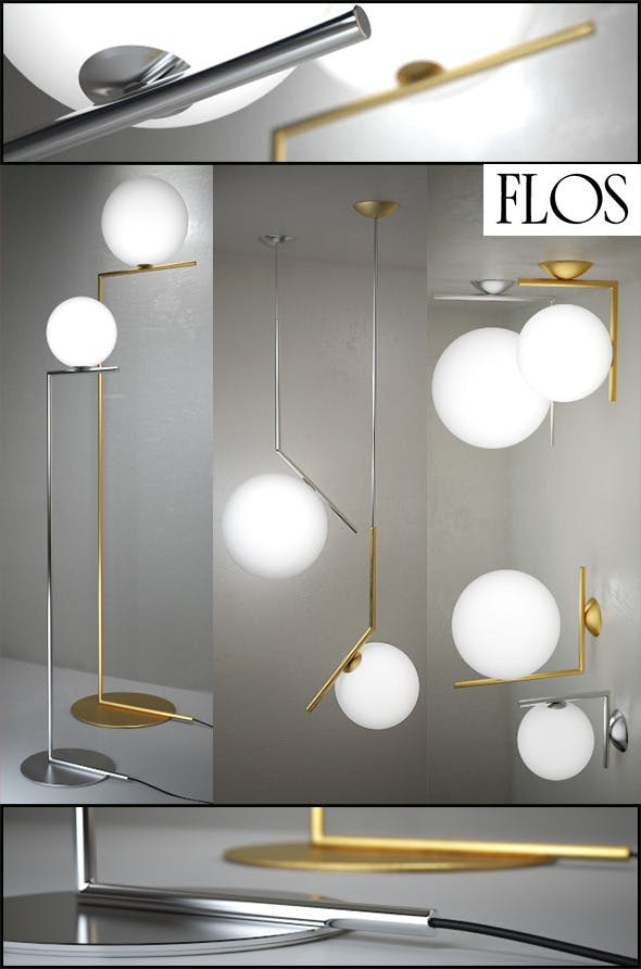 IC Lights floor, suspension, ceiling/wall by Flos - 3DOcean Item for Sale