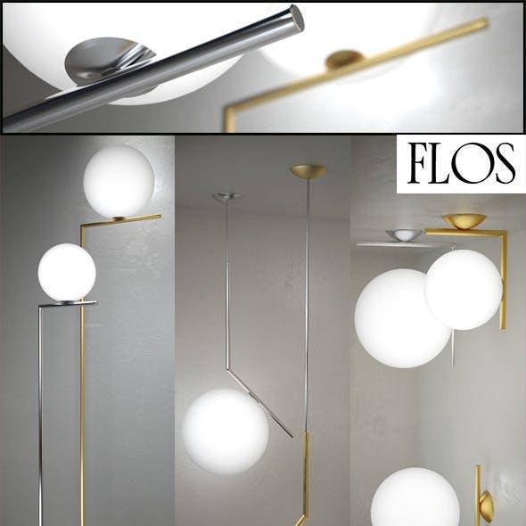 IC Lights floor, suspension, ceiling/wall by Flos