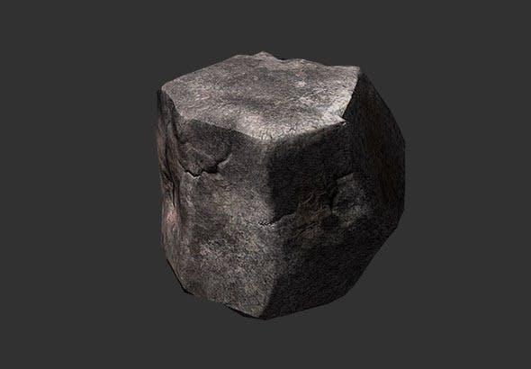 Low Poly Boulder - 3DOcean Item for Sale