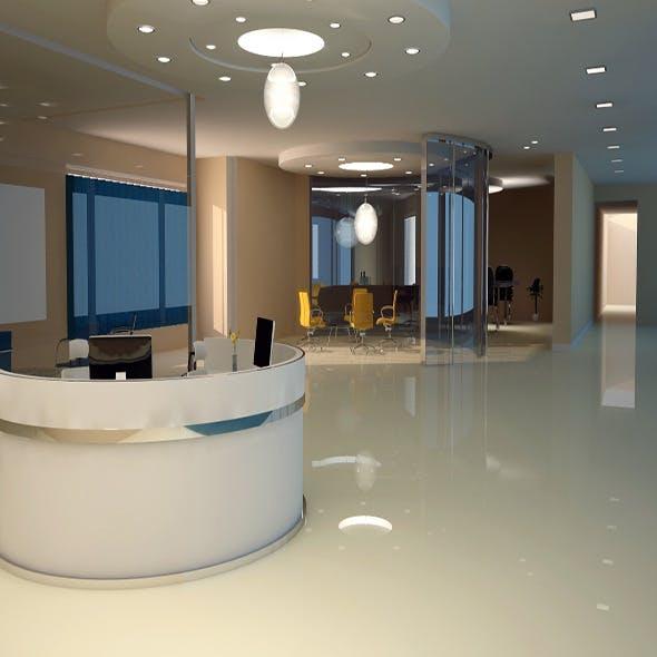 Office interior v ray