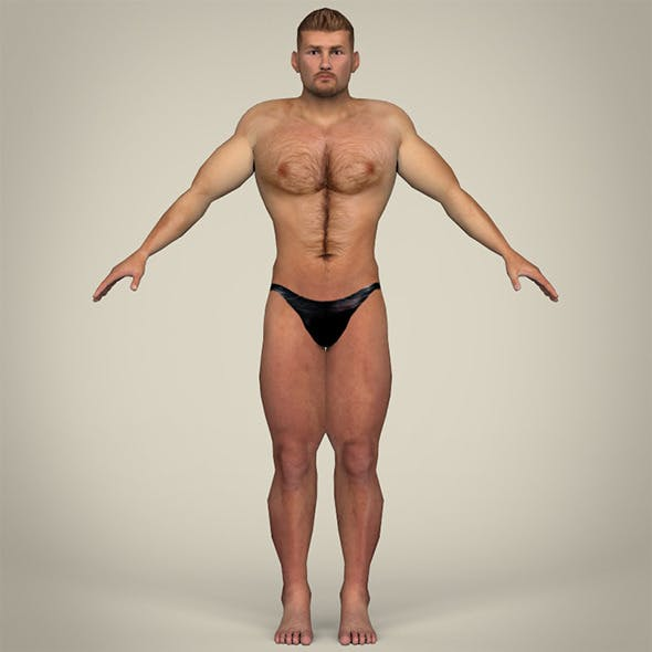 Young Muscular Man - 3DOcean Item for Sale