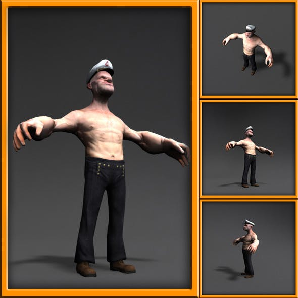 Popeye 3d cartoon character