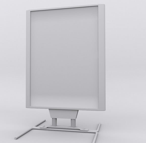 sidewalk poster stand - 3DOcean Item for Sale