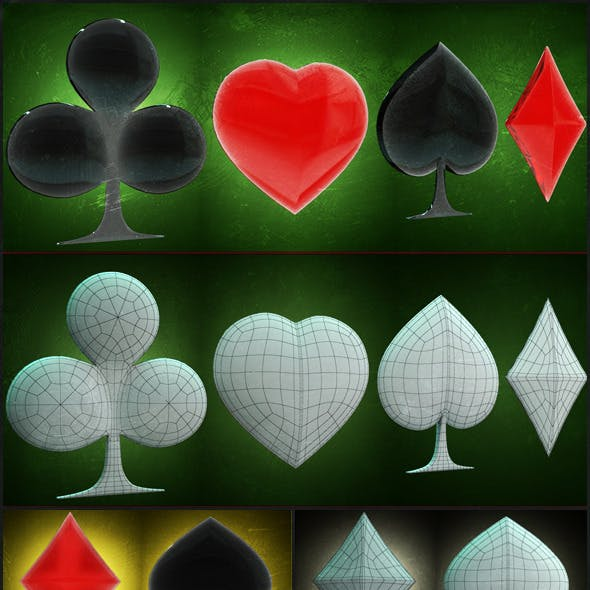 Signs of Cards 3D models