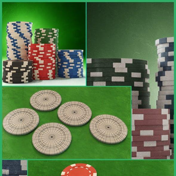 Casino Color Chip 3D Models
