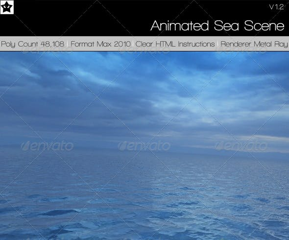 Sea scene Amazing sea material - 3DOcean Item for Sale