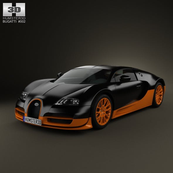 Bugatti Veyron Grand-Sport World-Record-Edition 20 - 3DOcean Item for Sale