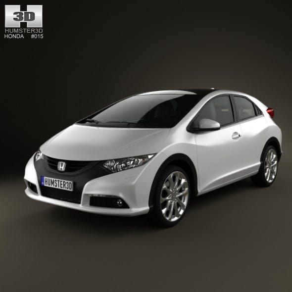 Honda Civic EU 2012 - 3DOcean Item for Sale