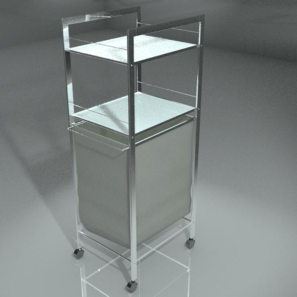 Laundry Basket Glass Metal Piece