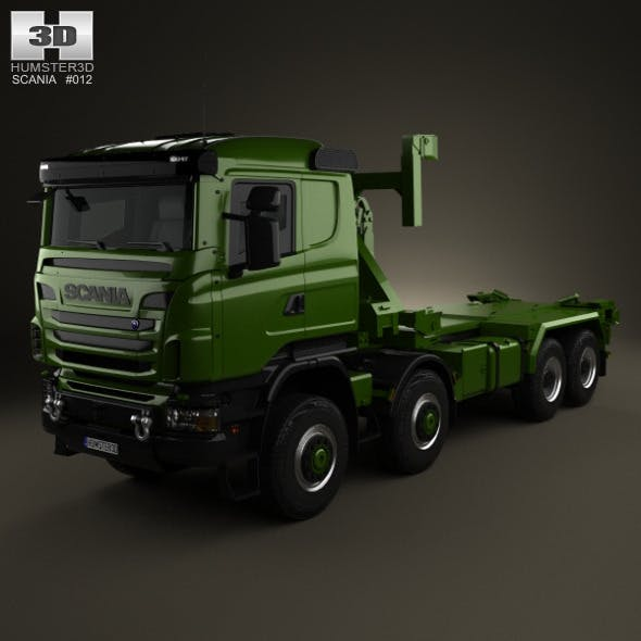 Scania R 480 Military Tractor Truck 2010 - 3DOcean Item for Sale