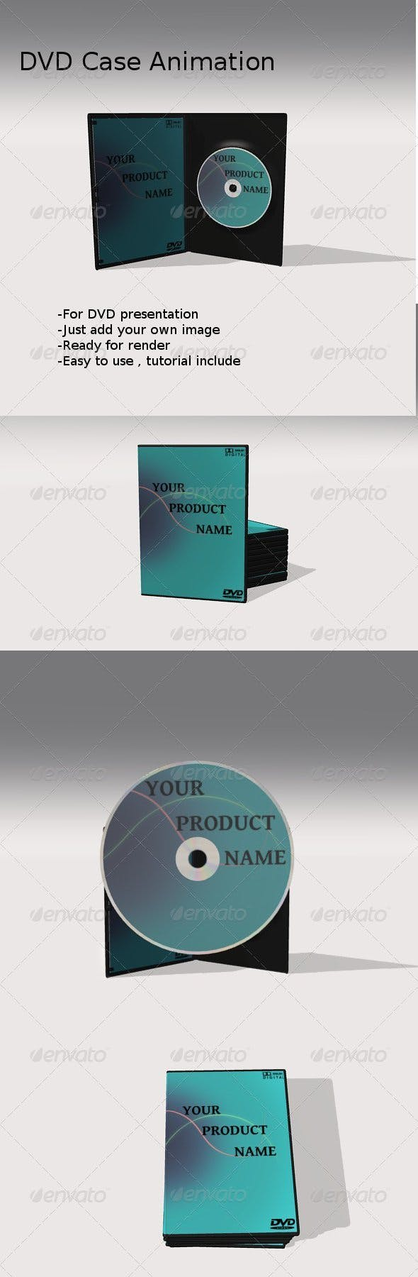Animated DVD case - 3DOcean Item for Sale