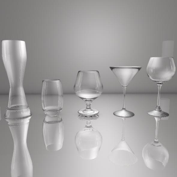 Wine Glasses - 3DOcean Item for Sale