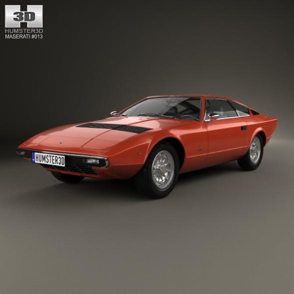 Maserati Khamsin 1977 - 3DOcean Item for Sale