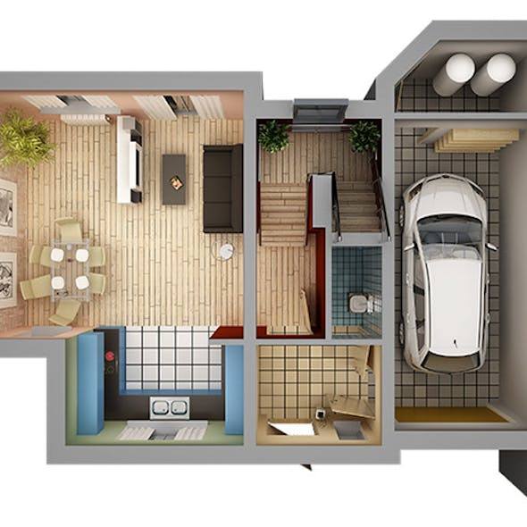 Home Interior Floor Plan 01