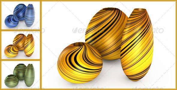 Set of vases. - 3DOcean Item for Sale