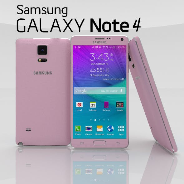 Samsung Galaxy Note 4 Blossom Pink - 3DOcean Item for Sale