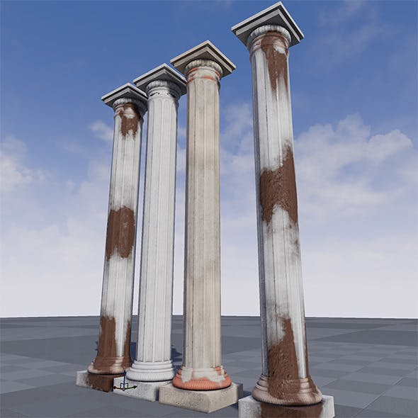 High Quality Greek Pillar UE4