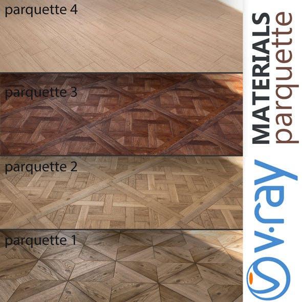 Parquette | 4 MATERIALS - 3DOcean Item for Sale
