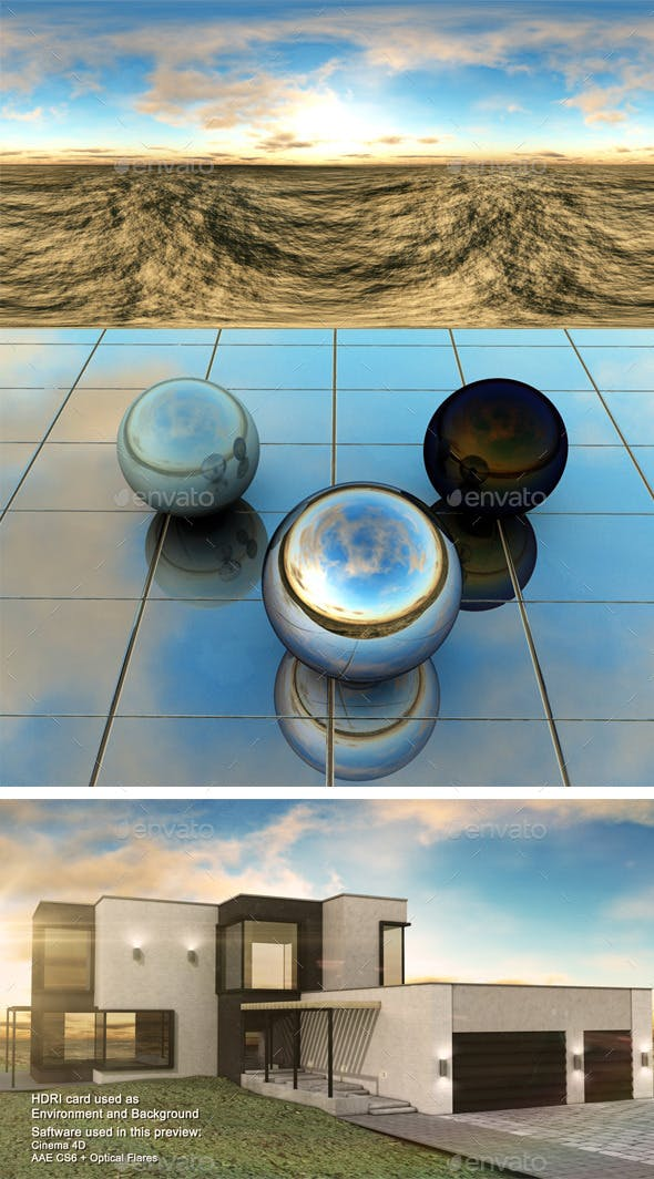 Sunset Desert 3 - 3DOcean Item for Sale