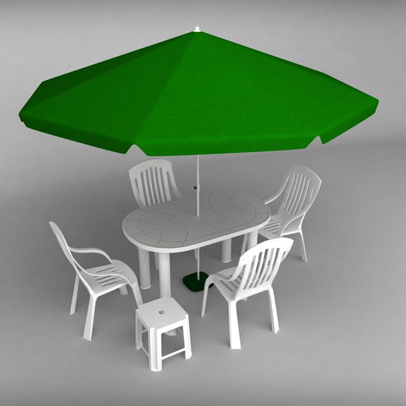 Garden plastic furniture set