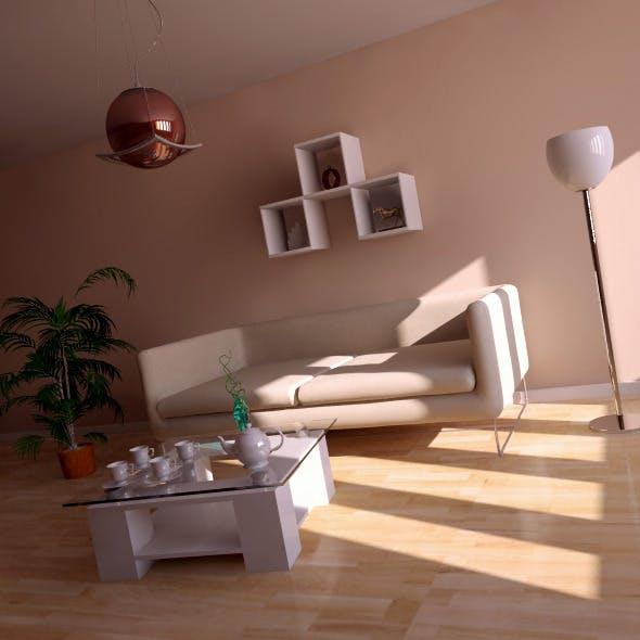 Interior vray+Psd