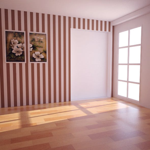 Empty Room  Vray (light+camera)+psd