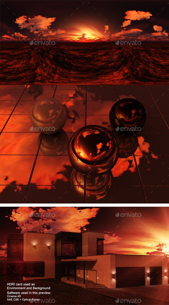Sunset Desert 4 - 3DOcean Item for Sale