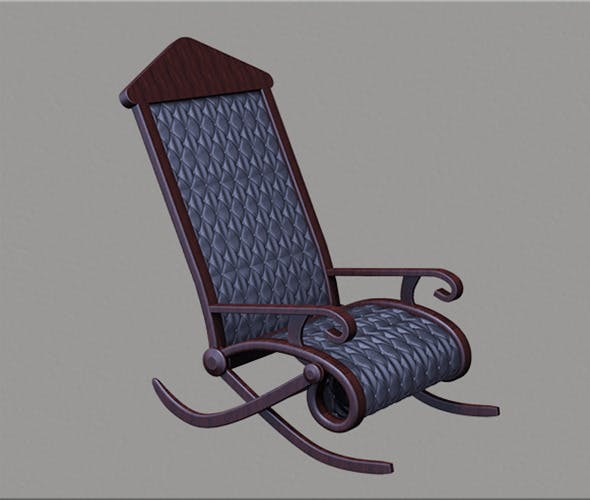3D Rocking Chair - 3DOcean Item for Sale