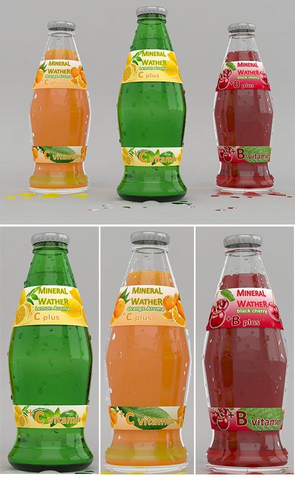 labeled bottle - 3DOcean Item for Sale