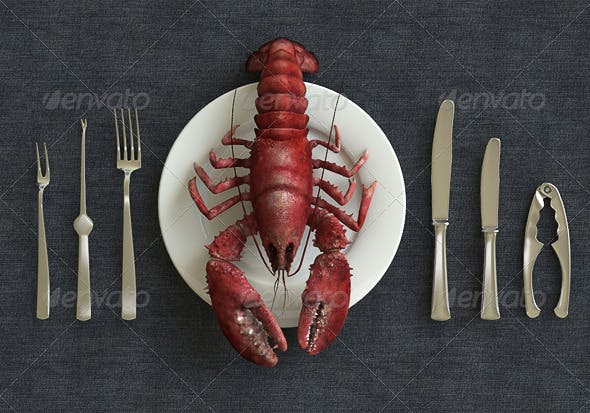Ocean Lobster - 3DOcean Item for Sale