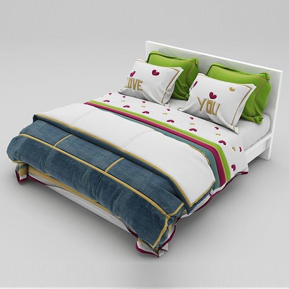 Bed 37 - 3DOcean Item for Sale