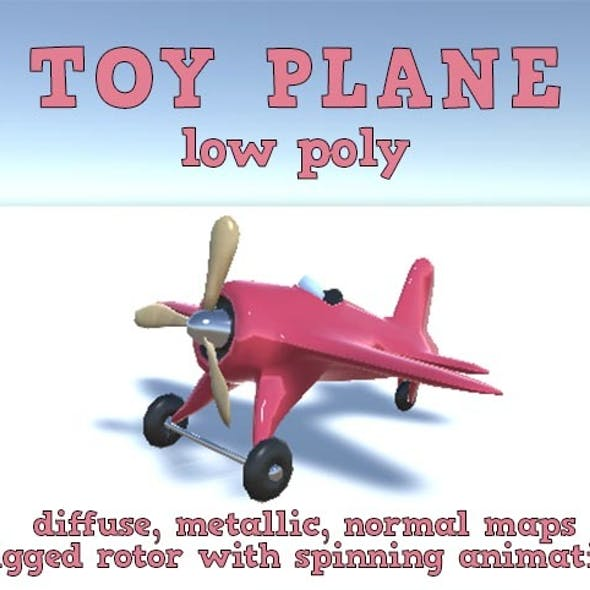 Low Poly Toy Plane