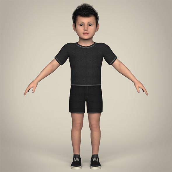 Realistic Little Boy - 3DOcean Item for Sale