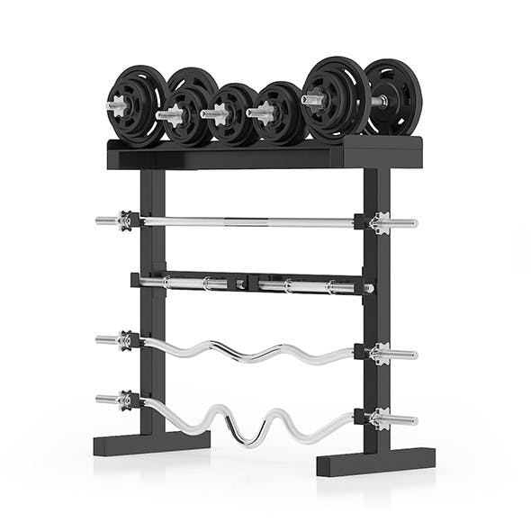 Weight Rack - 3DOcean Item for Sale