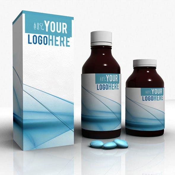 Medicine bottleglass mockup - 3DOcean Item for Sale