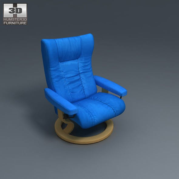 Eagle Chair - Ekornes Stressless - 3D Model. - 3DOcean Item for Sale