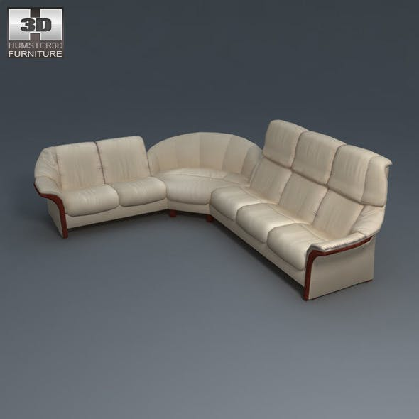 Eldorado sofa SET - Ekornes Stressless - 3D Model. - 3DOcean Item for Sale